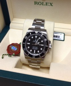 Rolex Submariner 114060 Black Ceramic Unworn 2016