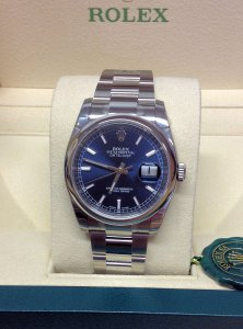 Rolex Datejust 116200 36mm Blue Baton Unworn