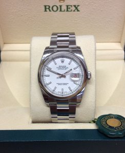 Rolex Datejust 116200 36mm White Baton Unworn
