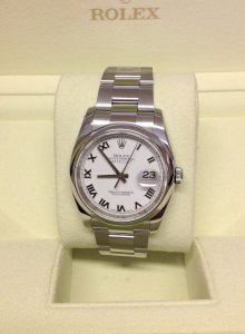 Rolex Datejust 116200 36mm White Roman