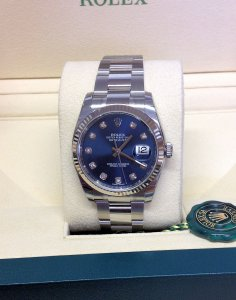 Rolex Datejust 36mm 116234 Blue Diamond Unworn