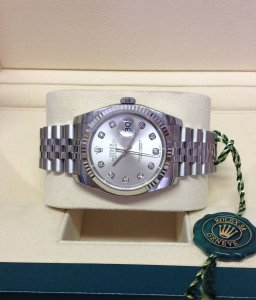 Rolex Datejust 36mm 116234 Silver Diamond Unworn