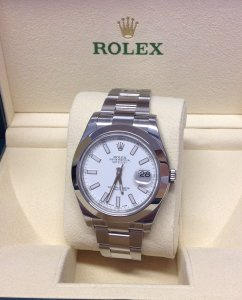 Rolex Datejust II 116300 41mm White Dial Unworn