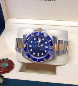Rolex Submariner Date 116613LB Bi/Colour Sunburst