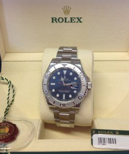 Rolex Yachtmaster 116622 Blue Dial New Unworn 2015