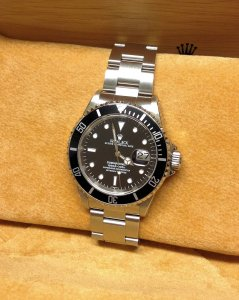 Rolex Submariner Date Black Bezel 16610 From 1999 With Rolex Service History