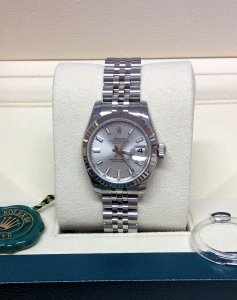 Rolex Datejust Lady 179174 26mm Silver Unworn