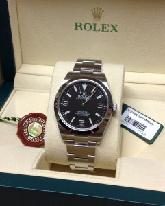 Rolex Explorer I 214270 39mm Black Dial Unworn
