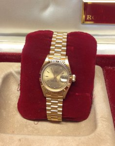 Rolex Datejust Ladies 26mm 69178 From 1989 18ct Yellow Gold Champagne Baton Dial Unworn!