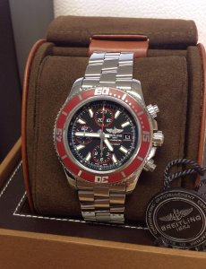 Breitling Chrono Superocean A13341 Red Bezel