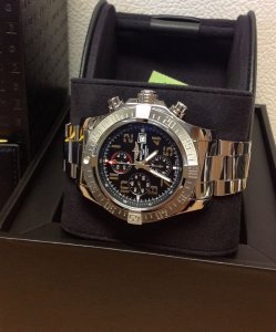 Breitling Super Avenger II A13371 Black Arabic Numeral Dial