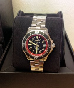 Breitling Superocean 42 A17364 Black And Red Dial