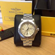 Breitling Superocean Steelfish Silver Dial A17390 Just Serviced By Breitling UK 2009