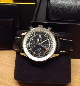 Breitling Navitimer World A24322 Black Dial 2016