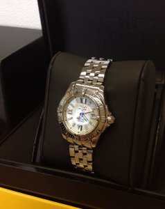 Breitling Lady Cockpit A71356 Mother Of Pearl Dial