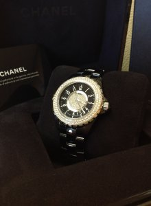 Chanel J12 Black Ceramic Diamond Bezel 38mm Automatic H1709