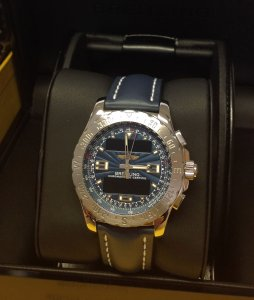 Breitling Airwolf Sunburst Blue Dial A78363 From 2013