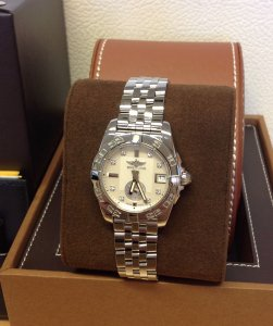 Breitling Galactic 36 A37330 Mother Of Diamond Dial