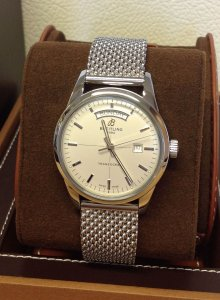 Breitling Transocean A45310 Day & Date Silver Dial