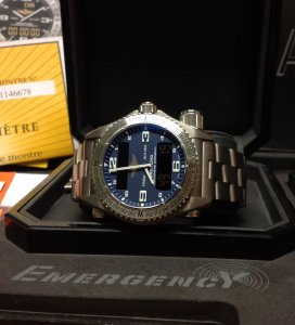 Breitling Emergency Blue Dial 2012 E76321 Just Serviced By Breitling