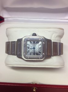 Cartier Santos Galbee W20064D6 Ladies 23mm Quartz