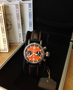 Chronoswiss Timemaster Flyback Chronograph Orange Dial REF: CH 7633