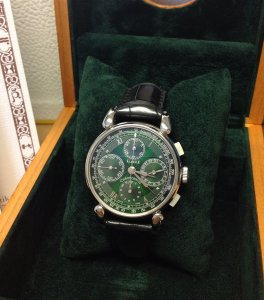 Chronoswiss Klassik Green Dial Chronograph REF: CH 7403 GR