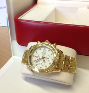 Omega Seamaster Chrono Diver 18ct Yellow Gold BA1780504