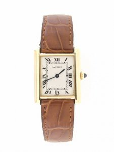 Cartier Tank Louis 18ct Yellow Gold Whtie Dial