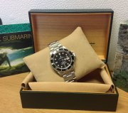 Rolex Submariner Date Black Bezel 16610 Just Serviced