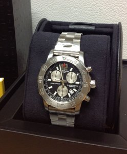 Breitling Colt Chronograph Black Dial A73387 New Old Stock