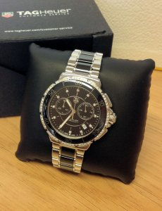 Tag Heuer Formula 1 Ladies Black Ceramic Chronograph CAH1212