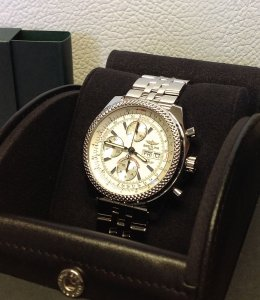 Breitling for Bentley GT White Dial A13362 Recently Serviced By Breitling UK