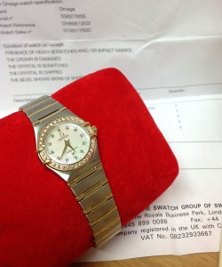 Omega Constellation Ladies Diamond Bezel Bi/Colour 1267.75.00