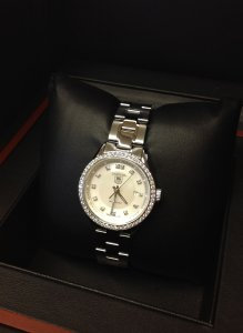 Tag Heuer Carrera 27mm Ladies Diamond Bezel Automatic WV2413