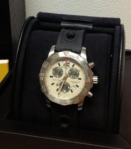 Breitling Colt Chronograph Silver Dial A73387 2014 New Old Stock