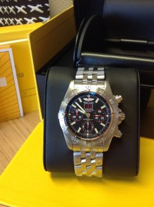 Breitling Blackbird Red Strike Satin Finish A44359 Limited Edition