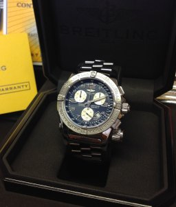 Breitling Emergency Mission Blue Dial A73322 Just Serviced By Breitling