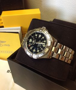 Breitling Superocean Black Dial A17360 Just Serviced By Breitling