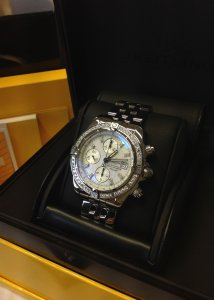 Breitling Chronomat Evolution Diamond Bezel A13356 Just Serviced