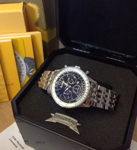 Breitling Montbrillant Black Dial Just Serviced by Breitling A41330
