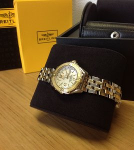 Breitling B Class Bi/Colour Mother Of Pearl Dial D67365