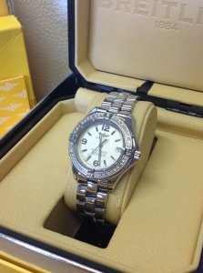 Breitling Colt Oceane 34mm Diamond Bezel A77350 Just Serviced By Breitling