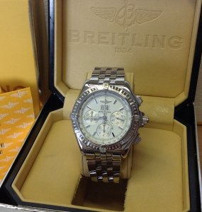 Breitling Crosswind Special A44355 Silver Dial Just Serviced By Breitling UK