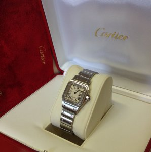 Cartier Santos Galbee Ladies 23mm Quartz W20056D6 From 2006 Just Serviced