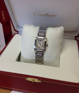 Cartier Tank Francaise W51008Q3 Ladies 20mm Quartz White Roman Numeral Dial Just Serviced By Cartier UK