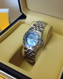 Breitling Starliner Marine Blue Mother Of Pearl Dial A71340