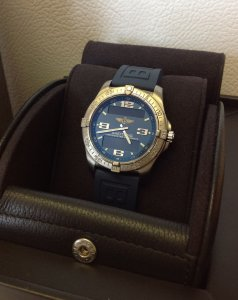 Breitling Aerospace Avantage Blue Dial E79362 Just Serviced