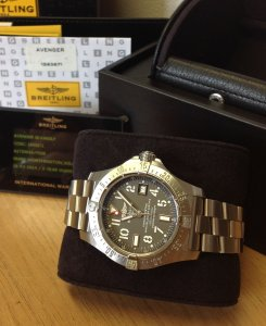 Breitling Avenger Seawolf Grey Arabic Numeral Dial A17330 2014