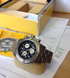 Breitling Avenger M1 Countdown Black Dial E73360 just Serviced